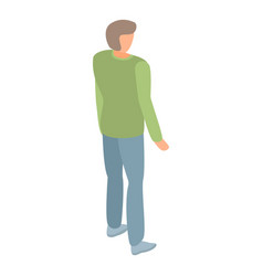 Man in jeans icon isometric style vector