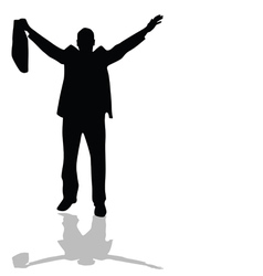 man with bag silhouette vector image