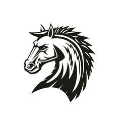 Mane head isolated horse silhouette vector