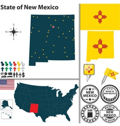 Map of new mexico vector