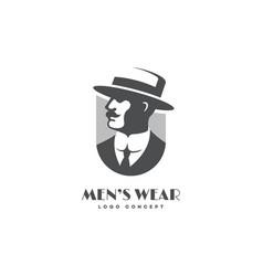 Mens wear logo vector