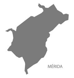 Merida venezuela map grey vector