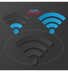 Modern flat minimalistic design wifi vector