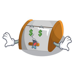 Money eye container food bread bin isolated on vector