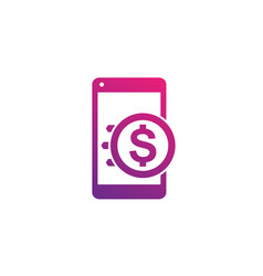 money transfer icon mobile payment vector image