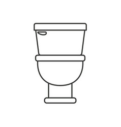 Monochrome silhouette with toilet icon in front vector