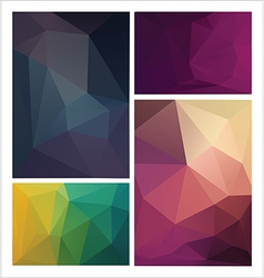 multicolored geometric pattern vector image
