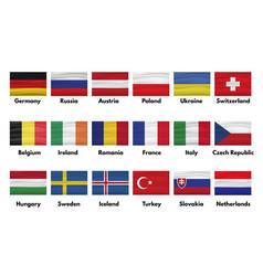netherlands slovakia turkey sweden iceland vector image