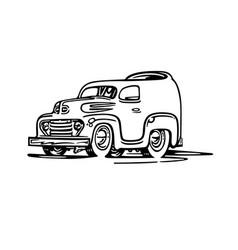 Old van cartoon cartoon vector