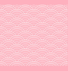 Pink seigaiha japanese wave pattern vector