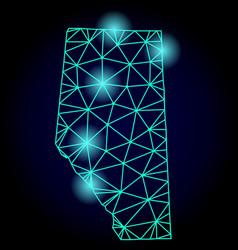 Polygonal 2d mesh map alberta province vector