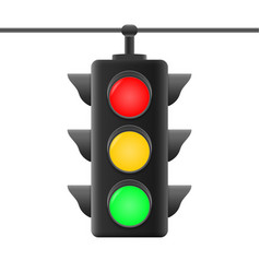 realistic traffic lights vector image