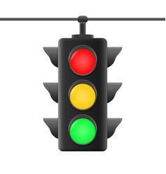 realistic traffic lights vector image