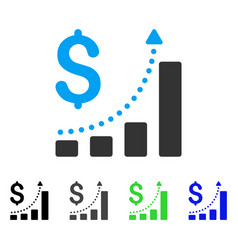Sales growth flat icon vector