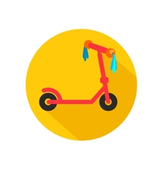 scooter for children with ribbons vector image