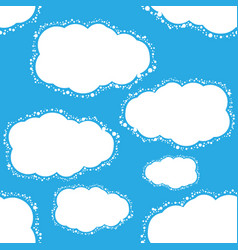 Seamless blue sky background vector