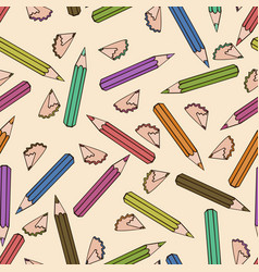 seamless pattern background pencil vector image