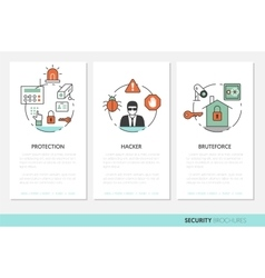 Security and Safety Business Brochures Template vector image