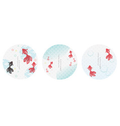 set japanese icon and logo template geometric vector image