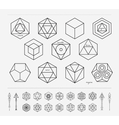 Set of geometric hipster shapes and arrows4f77 vector