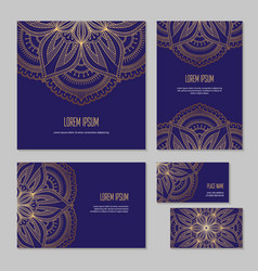 set template of ethnic corporate identity elements vector image