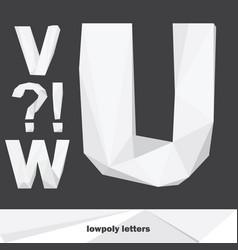 set with english alphabet set english vector image