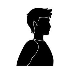 silhouette male man avatar profile icon in sport vector image