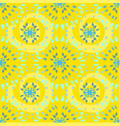 Starburst pattern in yellow green and blue vector
