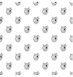 swarm pattern seamless vector image