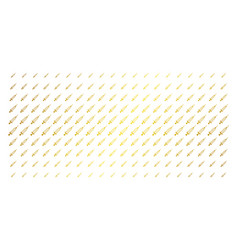 syringe gold halftone matrix vector image