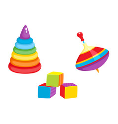 Toys - pyramid cubic blocks whirligig toy vector