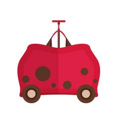 travel children suitcase icon vector image