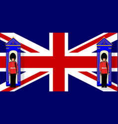 Union jack with guards vector