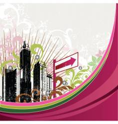 urban city design vector image