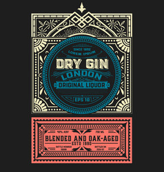 vintage label for liquor design vector image