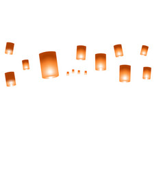 web background with chinese lanterns on a white vector image