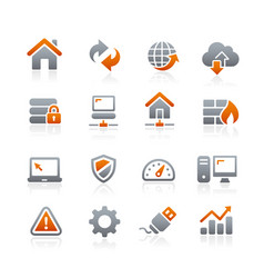 web developer icons - graphite series vector image