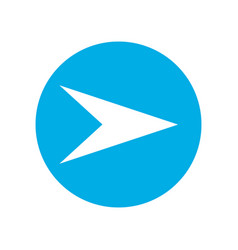 white right next arrow in blue circle vector image
