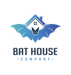 wild bat house logo design vector image