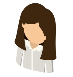Woman avatar isometric isolated vector