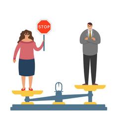 women fighting gender inequality demand fight fot vector image