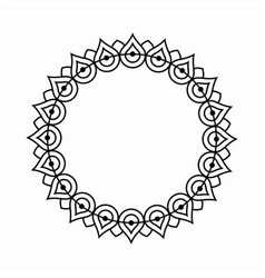 circle ornamental frame round pattern vector image vector image