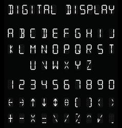 Digital white alphabet vector image