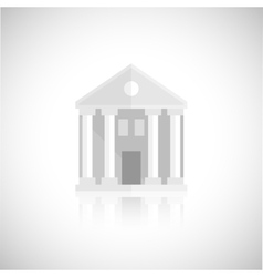 Museum building icon vector image vector image