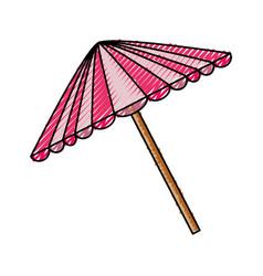 Picnic umbrella isolated vector