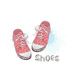 pink childrens shoes vector image vector image