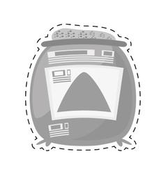 sack concrete construction tool cut line vector image vector image