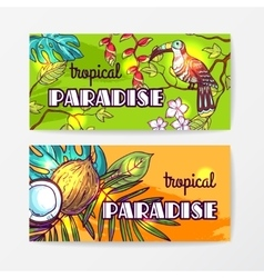 Tropical hand drawn vector image