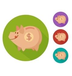 flat piggy bank vector image vector image