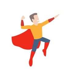 superhero in midair vector image